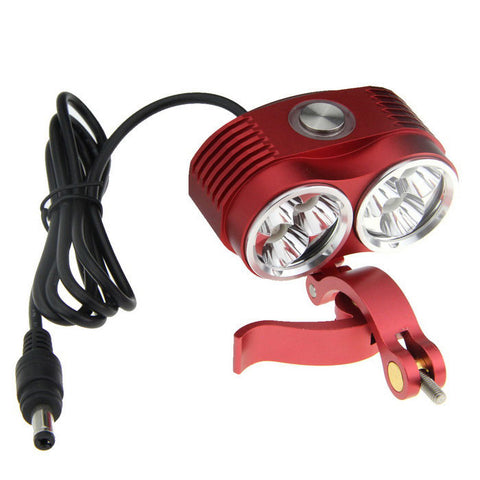 Fandy Fire XM-L 6-LED 5800lm Cool White 3-Mode Bike Light - Red (FSLV)