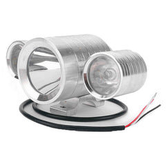 Motorcycle 30W 3 in 1 LED Spot Driving Front Colorful Light - Silver (FSLV)