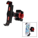 Bike Handlebar Diagonal Mount Holder for Cellphone - Black + Red (FSLV)