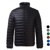 Men's Ultra Light Thin Down Jacket Coats - Black (FSLV)