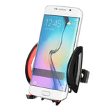 NUCKILY H671 Cycling Bike Phone Holder w/ Fixing Accessory - Red (FSLV)