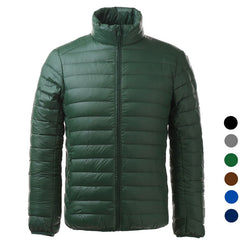 Men's Ultra Light Thin Down Jacket Coats - Green (FSLV)