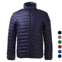 Men's Ultra Light Thin Down Jacket Coats - Navy Blue (FSLV)