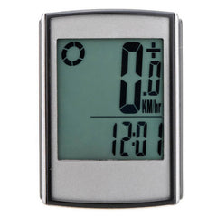 Multifunctional Wireless LCD Bicycle Computer Odometer Speedometer - Black  (FSLV)