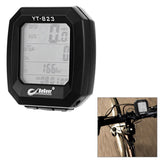 "YT-823 1.4"" Screen 24-Function Water-Resistant Bicycle Bike Computer - Black (FSLV)"