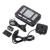 "Bogeer 1.5"" Screen 20-Function Solar Powered Water-Resistant Wired Bike Computer - Black (FSLV)"