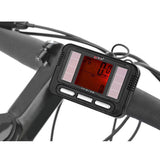 "Booger 1.5"" Screen 20-Function Solar Powered Water-Resistant Wired Bike Computer - Black (FSLV)"