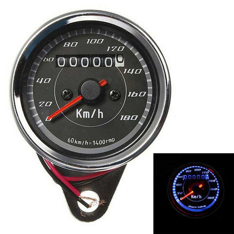 Motorcycle Speedometer + Tachometer+ Odometer + Oil Level Gauge -Black (FSLV)