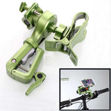 Rotating Bicycle Stand Mount Holder for Phone, Flashlight - Green (FSLV)