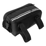 "CTSmart Water-Resistant Touch Screen Bike Top Tube Bag w/ Reflective Strip for 5.5"" Phones - Black (FSLV)"