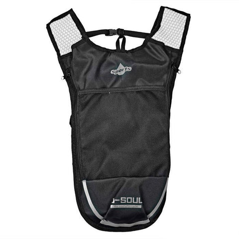Outdoor Climbing / Cycling Shoulders Bag Backpack w/ Water Bladder Compartment - Black + Silver (5L)   (FSLV)