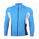 NUCKILY Quick-drying Reflective Cycling Jersey - Blue +Black