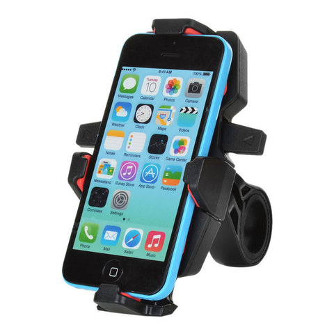 360' Rotation Motorcycle Bicycle Mount Holder for GPS, Phone - Red (FSLV)