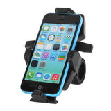 360' Rotation Motorcycle Bicycle Mount Holder for GPS, Phone - Grey (FSLV)