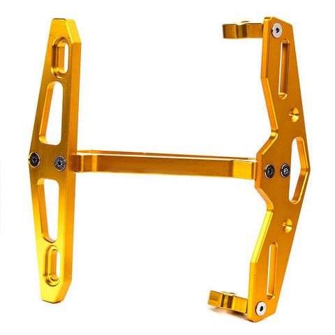 CARKING CNC Motorcycle License Plate Holder Mount Bracket - Yellow (FSLV)