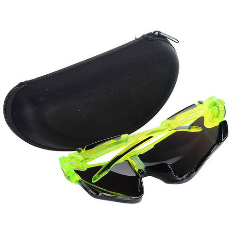 Cycling UV400 Protection Sunglasses Goggles - Green (FSLV)