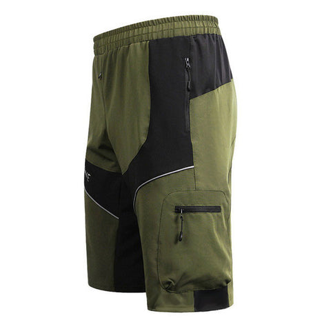 Wosawe Summer Waterproof Cycling Sports Shorts - Army Green - (FSLV)