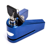 CNC Aluminium Alloy Lock for Motorcycle - Blue  (FSLV)