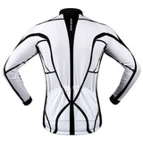 WOSAWE Spring / Autumn Long-Sleeve Cycling Jersey - Black + White