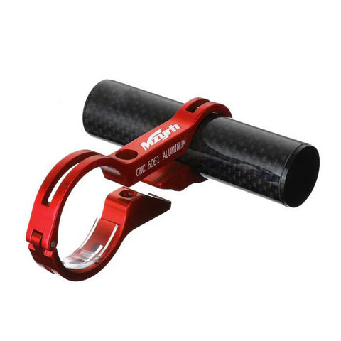 MZYRH Bike Handlebar Extension Clamp Mount Holder - Black + Red (FSLV)