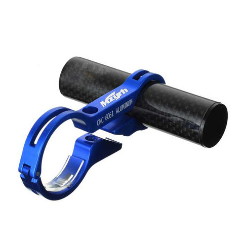 Bike Handlebar Extension Clamp Mount Holder - Black + Blue (FSLV)