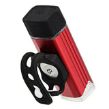 USB Charging Bicycle White Light Safety Front Lamp with Holder - Red (FSLV)