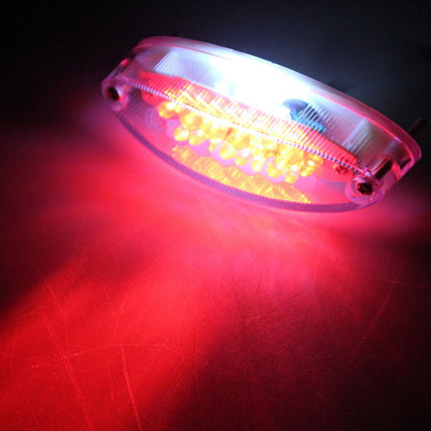 Qook 28-LED White + Red Light Motorcycle Tail Light - White (12V) (FSLV)