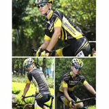 Spakct Printed Cycling Short Jersey Top Shirt - Black + Yellow