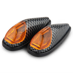 Qook Mini Bullet Shaped Yellow Motorcycle LED Turn Signal Light (2PCS) - (FSLV)