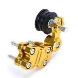 Motorcycle Chopper Aluminum Chain Adjuster Roller - Golden (FSLV)