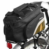 ACACIA Extendable Outdoor Cycling Bike Pannier Bag - Black + Yellow (FSLV)
