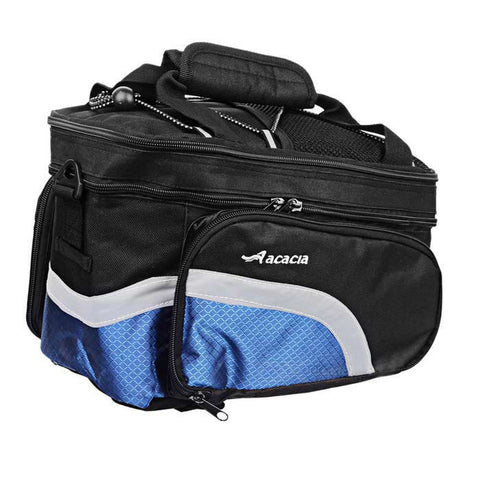 ACACIA Extendable Outdoor Cycling Bike Pannier Bag - Black + Blue (FSLV)