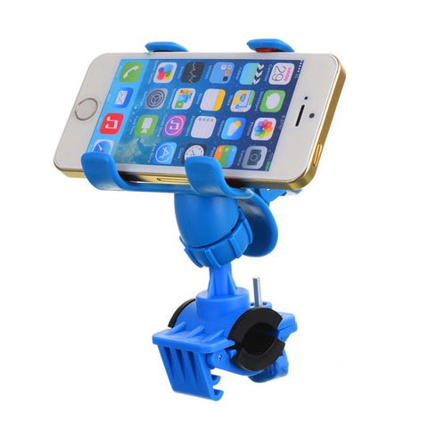 Yongruih Bike Holder Clip Mount for GPS Navigator Mobile Phone - Blue (FSLV)