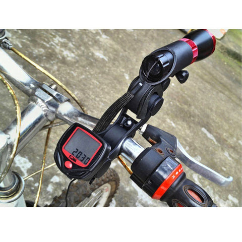 Handlebar Extension Bicycle Bike Light Holder Extender Mount - Blackt (FSLV)
