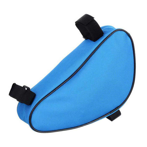 B-SOUL YA191 Nylon Triangle Bike Top Tube Bag - Blue  (FSLV)