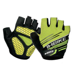 Inbike Summer Half-Finger Cycling Gloves - Green + Black (XL / Pair) - (FSLV)