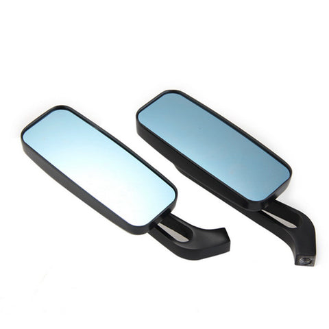 Aluminum Motorcycle Cruiser Chopper Rear View Mirrors - Black (FSLV)