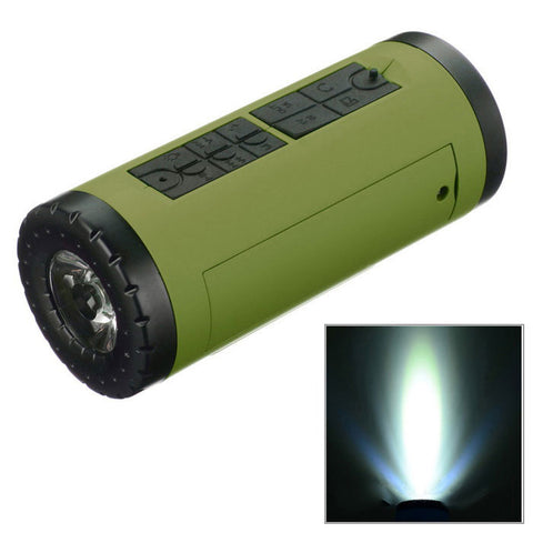 Outdoor Cycling Bicycle Blue Tooth Loudspeaker & Power Bank For Flashlight  (FSLV)