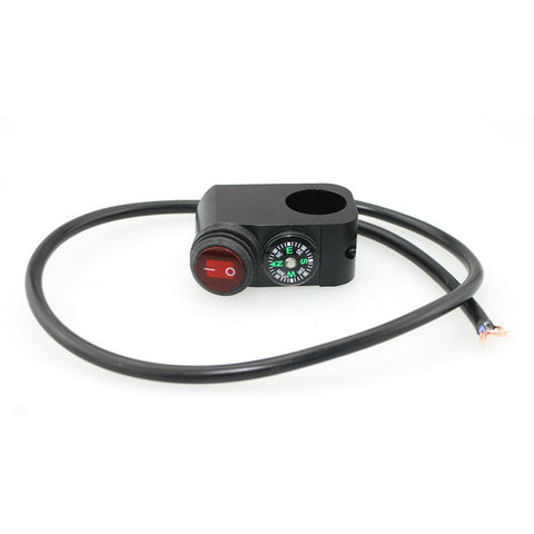 IZTOSS Motorcycle Headlight Switch w/ Compass  (FSLV)