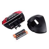 Cool Change 5-LED Red Bike Warning Lamp Tail Light - Black + Red (FSLV)