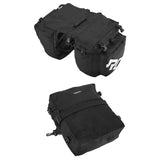 ROSWHEEL 3-in-1 Bicycle Rear Rack Bag Pannier Bag - Black + White   (FSLV)