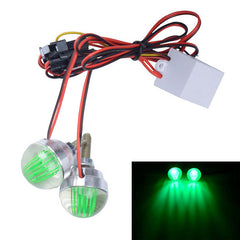 CARKING 1W Motorcycle LED License Plate Light Green Light (12V / 2PCS)  (FSLV)