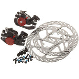 AVID Aluminum Alloy Mountain Bike Bicycle Disc Brakes and Rotors Kit (Front + Rear) (FSLV)