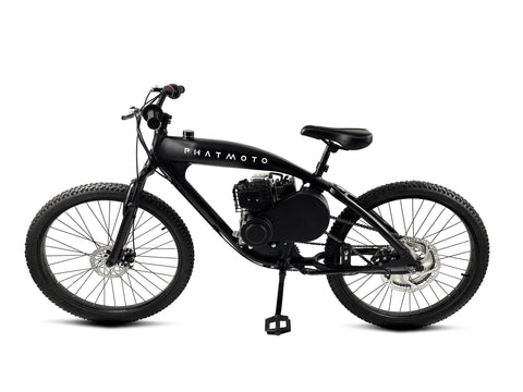 PHATMOTO™ Rover 2020 - 79cc Motorized Bicycle (Black) - Gasbike.net