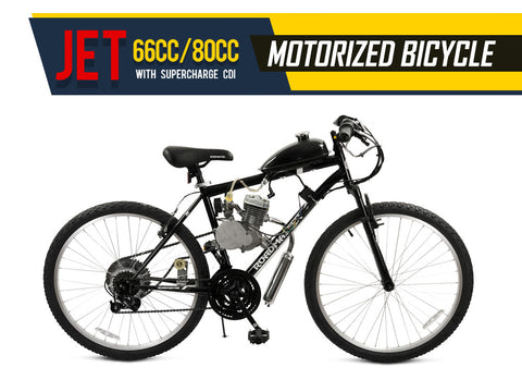 Jet 66cc/80cc Motorized Bicycle - Gasbike.net