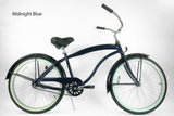 "Motorized Bicycle Greenline Kruiser 1APM- Men 26"" Single Speed Beach Cruiser (Bike Only)"