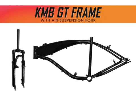 KMB GT Aluminum Bike Frame with Air Suspension Fork - Gasbike.net