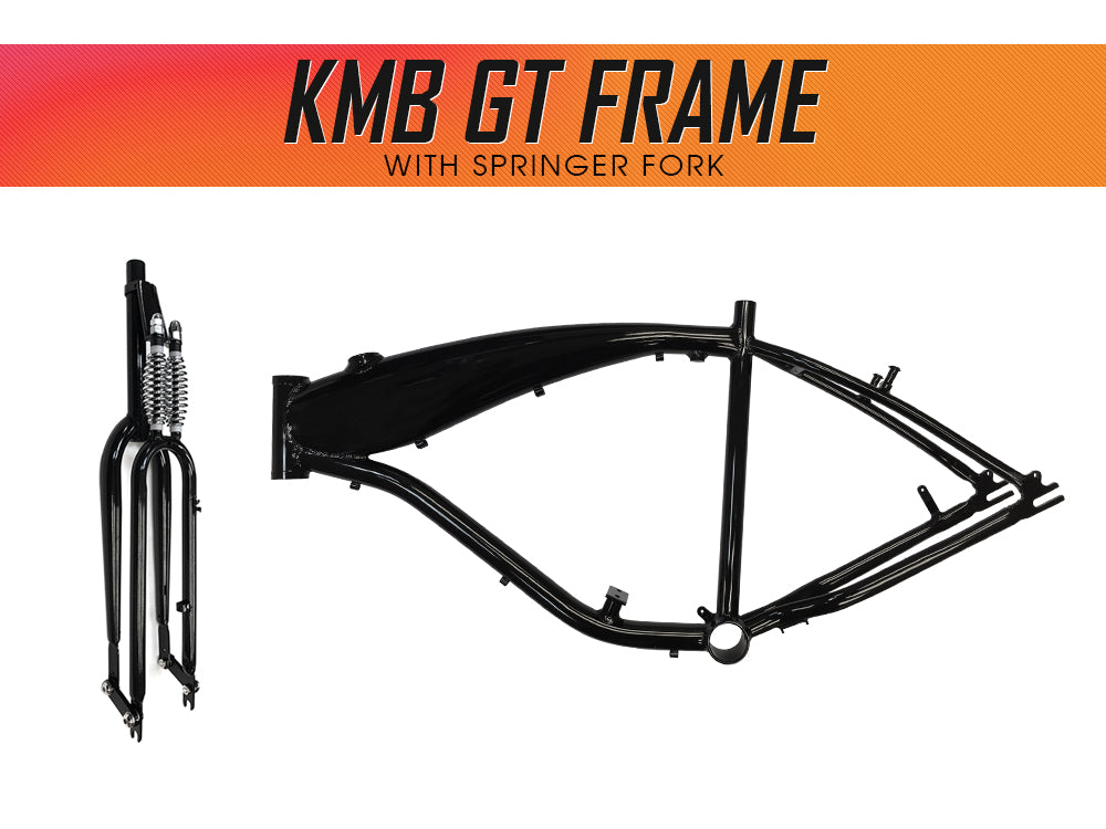 Gasbike Aluminum Bike Frame With Built-in Gas Tank - Polished Black ...