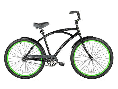 "26"" Kent La Jolla Men's Cruiser Bike, Black/Green - Gasbike.net"