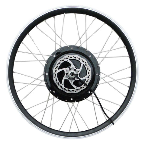 "Tesla 26"" Electric Conversion Front Wheel - 48 V 1000 W (With Disc Brake and LCD)"